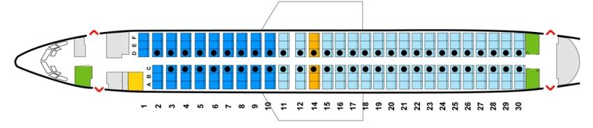 Число пассажирских мест boeing 737 800